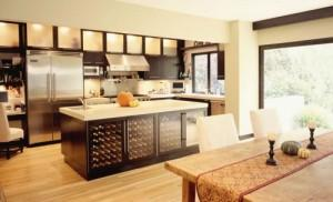 luxury kitchen interior design-wine cooler