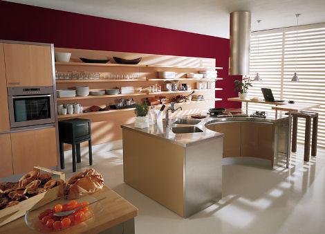 komfortable und schöne gemütliche Küche Design