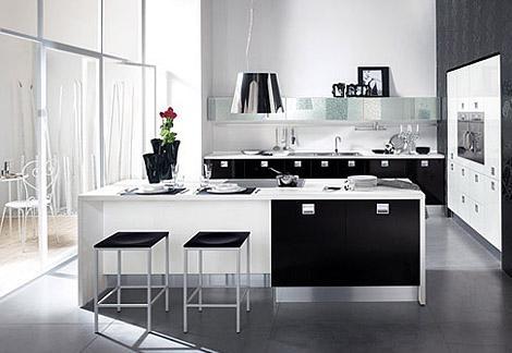 modern kitchen design in white-kitchen cabinets