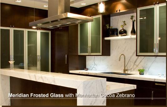 modern kitchen with fake marble countertop