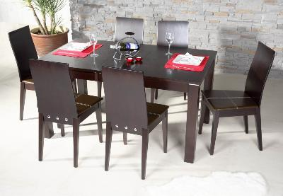 contemporary dark kitchen table