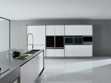 Luxus Küche Designs-weißen Schränken-weißen Boden