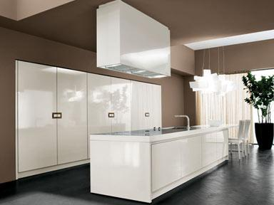 Luxury weiß Kitchen Designs-weiße Schränke, dunklen Boden