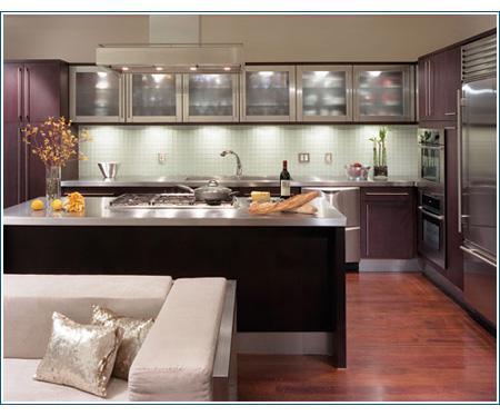 moderne Küche  Gehäuse-Design  in lila