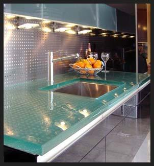 glass kitchen sink design