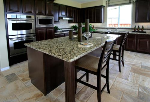 modern kitchen island-granit countertop-design-ideas