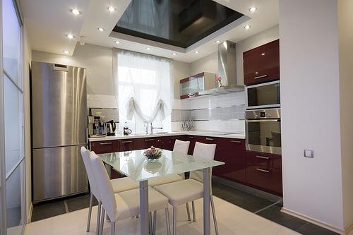 modern kitchen-kitchen chairs-chrome handles