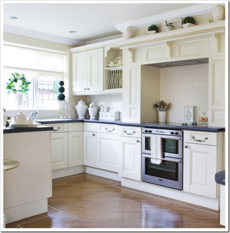 modern kitchen-white cabinets-decoration
