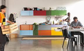 colourful kitchen cabinets