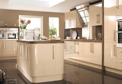 contemporary-luxury kitchen-rounde island-white-flower