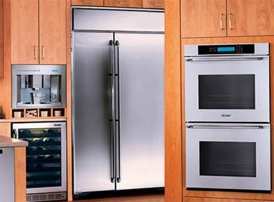 modern metallic kitchen refrigerator-two doors-design