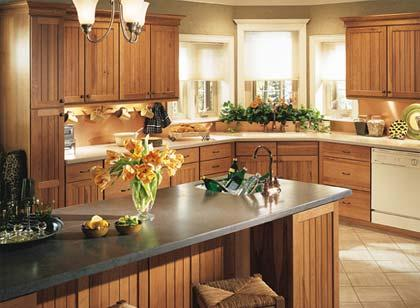 classic kitchen decorated with flowers-design