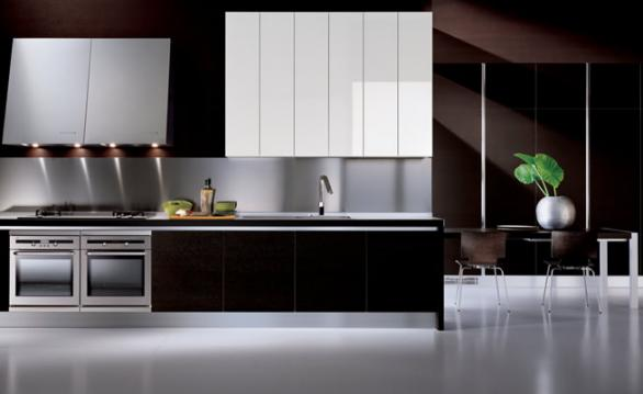 modern kitchen cabinets in black-design