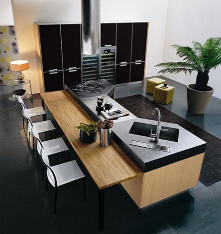Luxus k che moderne k chen mit fotozellen for Interieur gegenteil