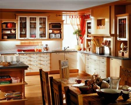 modern large kitchen decoration-wooden cabinets