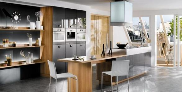 modern kitchen interior design-wood