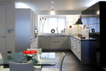innovative modern kitchen-interesting cabinets