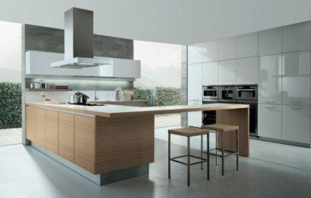 modern kitchen-modern devices-big windows