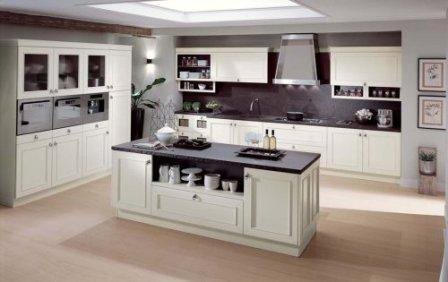 classic kitchen with interesting kitchen island