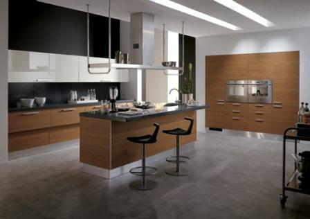 modern kitchen in brown-design and ideas