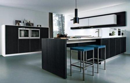 modern luxury kitchen-black cabinets