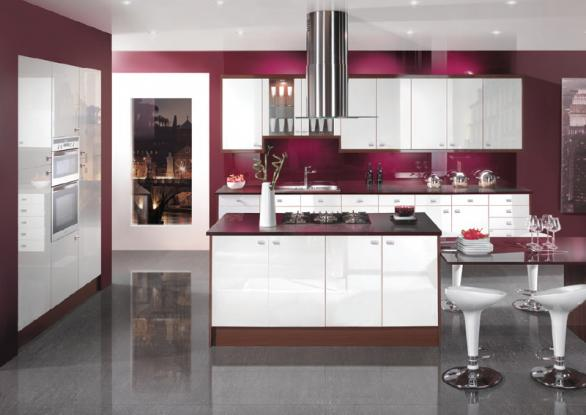 modern colorful kitchen design