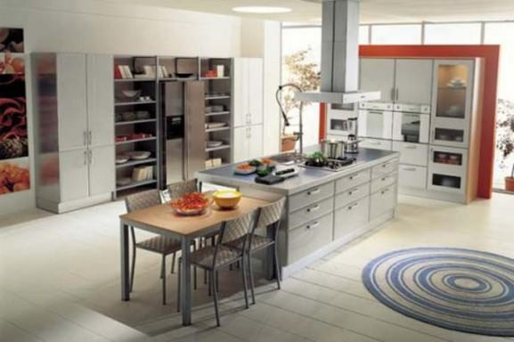 modern kitchen design-stainless steel oven