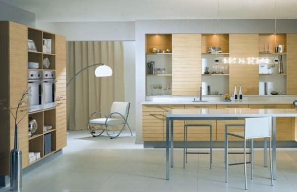 modern and contemporary kitchen design-wooden cabinets