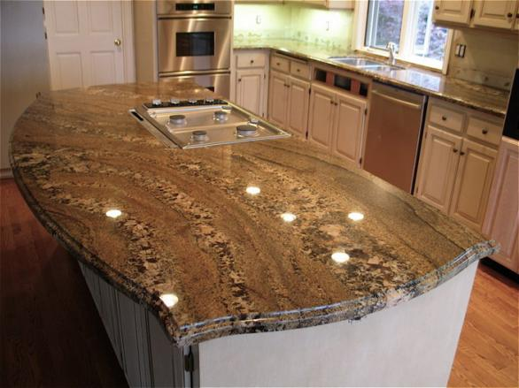 modern kitchen island-granite countertop