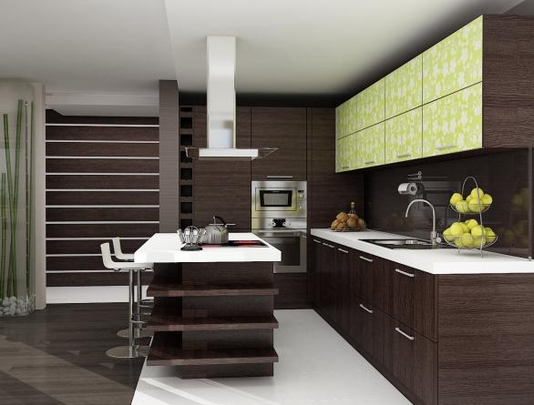 contemporary luxury kitchen design-ideas-dark cabinets