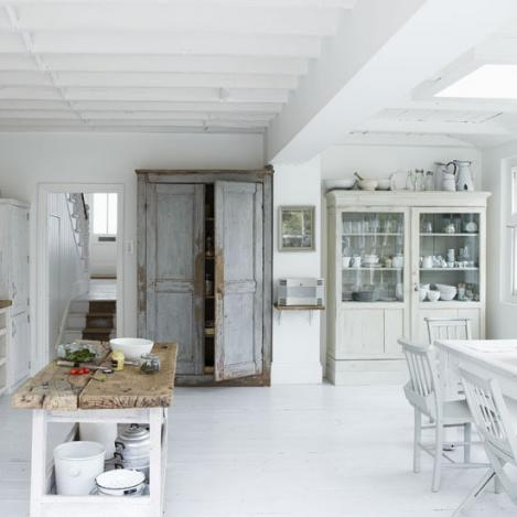 modern white kitchen-wood-design