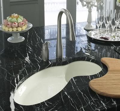 Luxus-Runde Waschbecken Design, Marmor