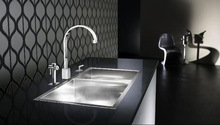 modern flushmount sink- black