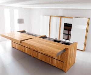 modern kitchen -design-white and brown-innovation-wood top