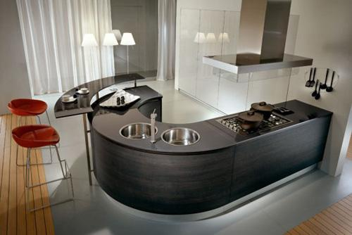 elegant and luxury black kitchen countertop-design