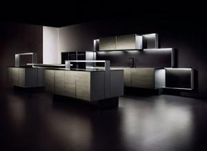 luxury kitchen-design-black and white- modern appliances