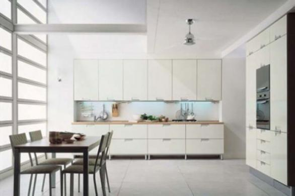 luxury contemporary kitchen design in white