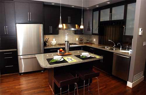 Home and garden modern kitchen design ideas for small for Small contemporary kitchen designs