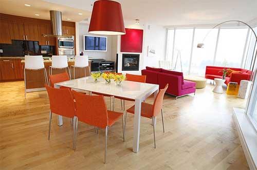 geräumige offene Küche zum Home-Deko