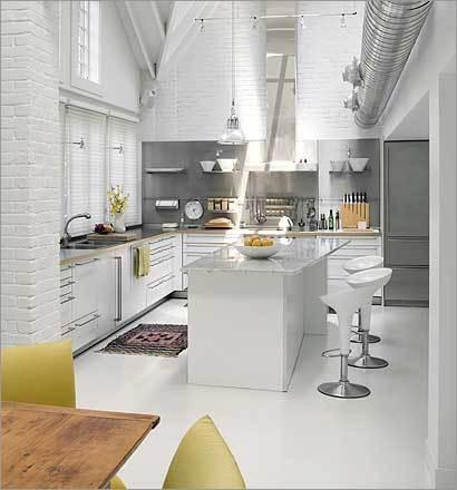moderne weiße Küche Dekorationen und Accessoires