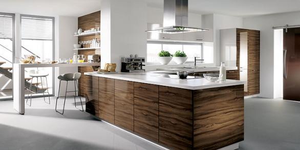 Modern Und Luxuriös Eingerichtete Küche Design, Geräumige