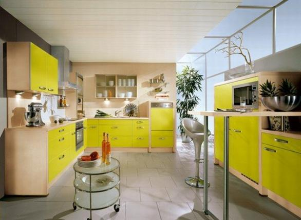 contemporery kitchen deisgn-colorful ideas