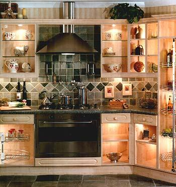 modern contemporary large kitchen decoration