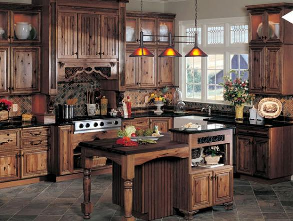 Modern kitchen interior designs the rustic style in your for Rustic kitchen floor ideas