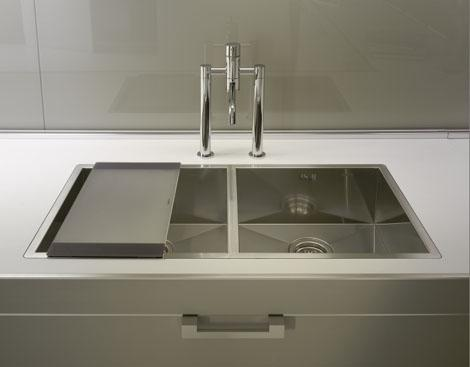 contemporary kitchen sink-stainless steel