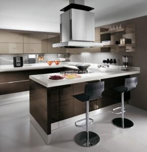 modern kitchen-black and white-innovations