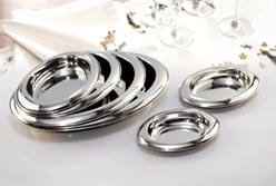 metal serving dishes-modern accessories