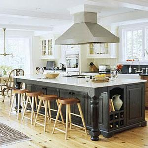 moderne und luxuriöse Küche Insel