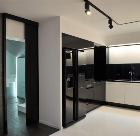modern kitchen cabinets in black from fiberglass