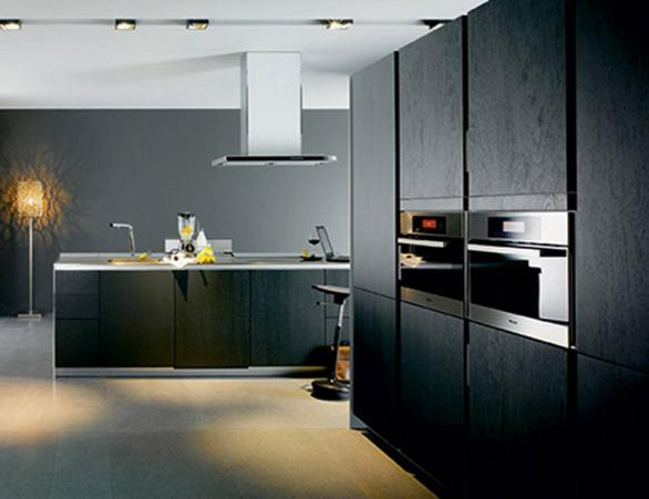 modern black kitchen-cabinets